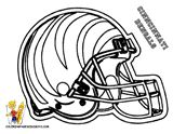 Cincinnati Bengals Football Helmet at Coloring Pages For Kids Boys