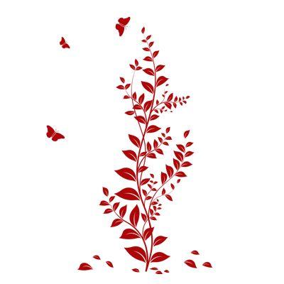 Αυτοκόλλητα τοίχου Κισσός με Πεταλούδες - Ivy with Butterflies