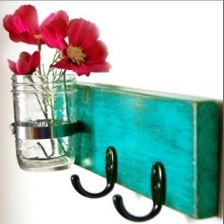 Repurpose old materials and vintage finds into key holders!