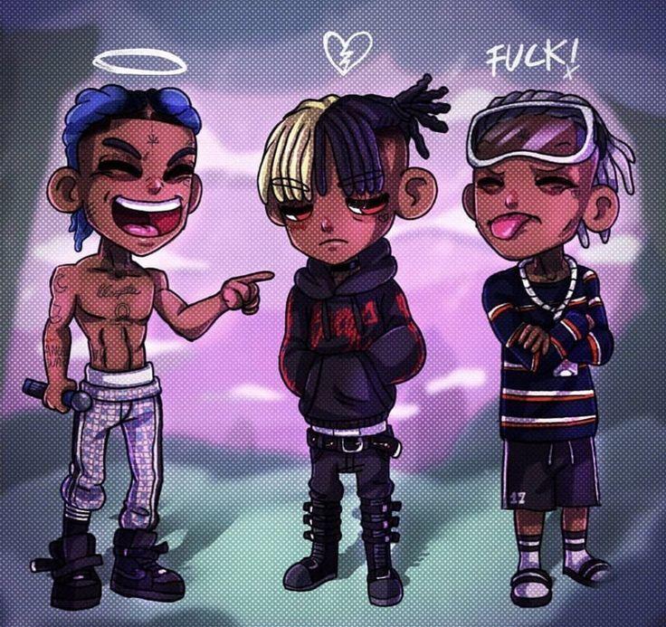 XXXTENTACION LLJ 💙🕊️ Rapper art, Dope cartoons, Dope