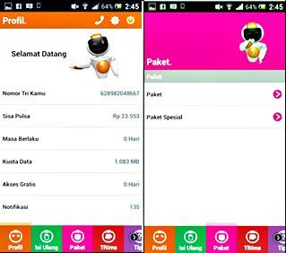 Cara Cek Kuota 3 (Tri) Melalui SMS, Online, Aplikasi BimaTRI | Informasi Cara Cek