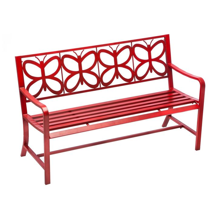 Cape Craftsman Butterfly 56 in. Metal Outdoor Bench - 8MB025