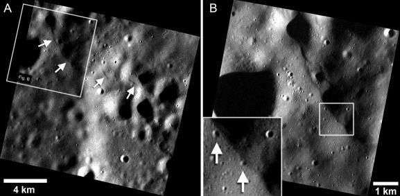 Images acquired by NASA's MErcury Surface, Space ENvironment, GEochemistry, and Ranging (MESSENGER) spacecraft show geologic features that ...