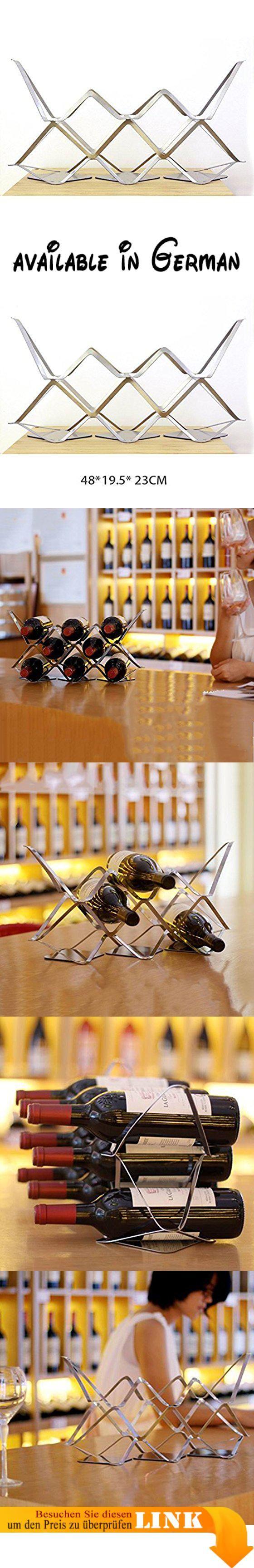 B077W3RGP7 : LC Rotwein Rack Wein Mode Möbel Edelstahl Wein Schrank Hause Kreative Trauben Metall Dekoration.  Material: 304 Edelstahl 15 mm dick..  Größe: 48  195  23cm. (Länge L  Breite W  hoch H) 1-3 cm Fehlerdifferenz..  Prozess: Edelstahl Oberfläche Spiegel Behandlung Papier schneiden Design-Prozess Laserschneiden..  Verwendet: Dieser Weinregal kann Rotwein Rack so schön und großzügig ordentlich aussehen sehr komfortabel setzen..  Platz