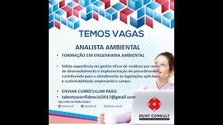 VAGAS NACIONAL: VAGA: Analista Ambiental