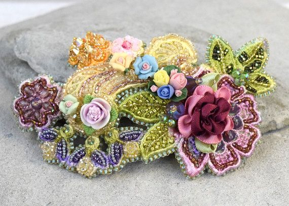 Hey, I found this really awesome Etsy listing at https://www.etsy.com/au/listing/206738653/floral-headpiece-bridal-floral-clip