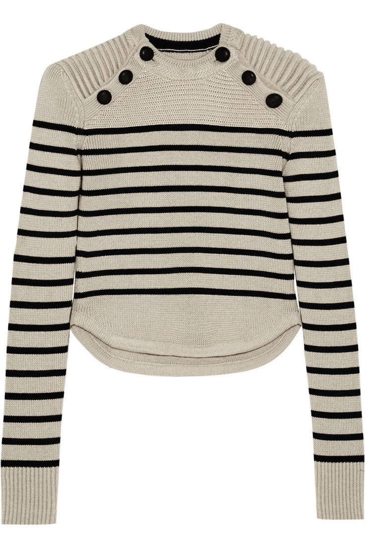 Isabel Marant | Hatfield striped merino wool-blend sweater | NET-A-PORTER.COM