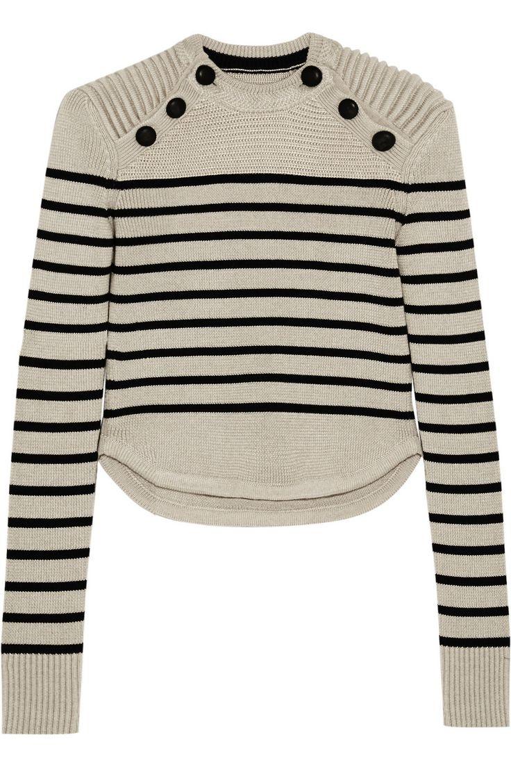 Isabel Marant|Hatfield striped merino wool-blend sweater|NET-A-PORTER.COM
