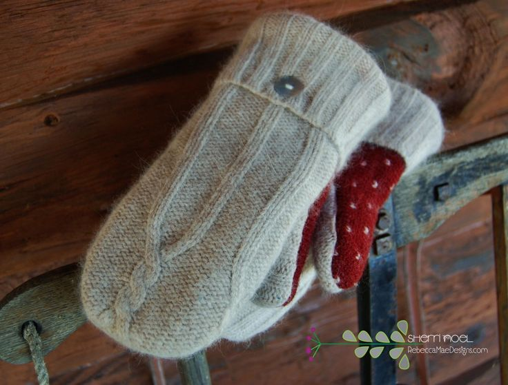 mittens from sweatersCrafty Stuff, Sweaters, Crafts Ideas, Woolen Mittens, Felt Wool, Gift Ideas, Wool Mittens, Christmas Gift, General Crafts