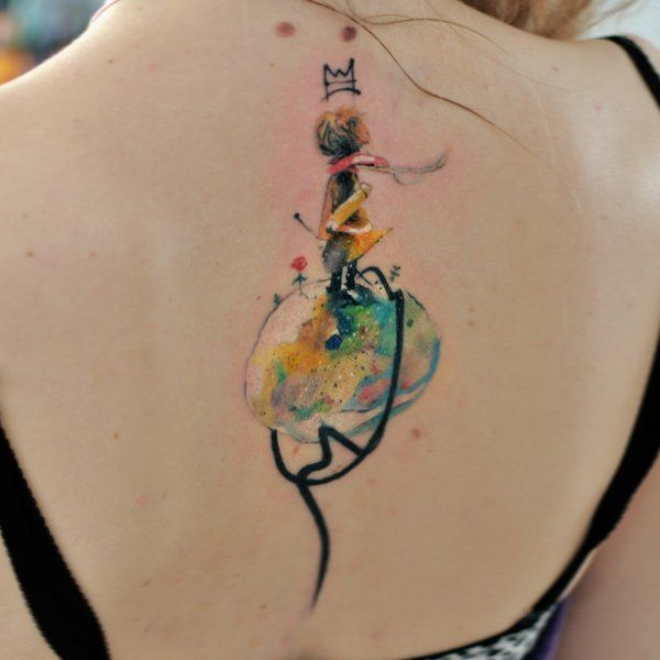 Aleksandra Katsan > The Little Prince #tattoo #ink #watercolor