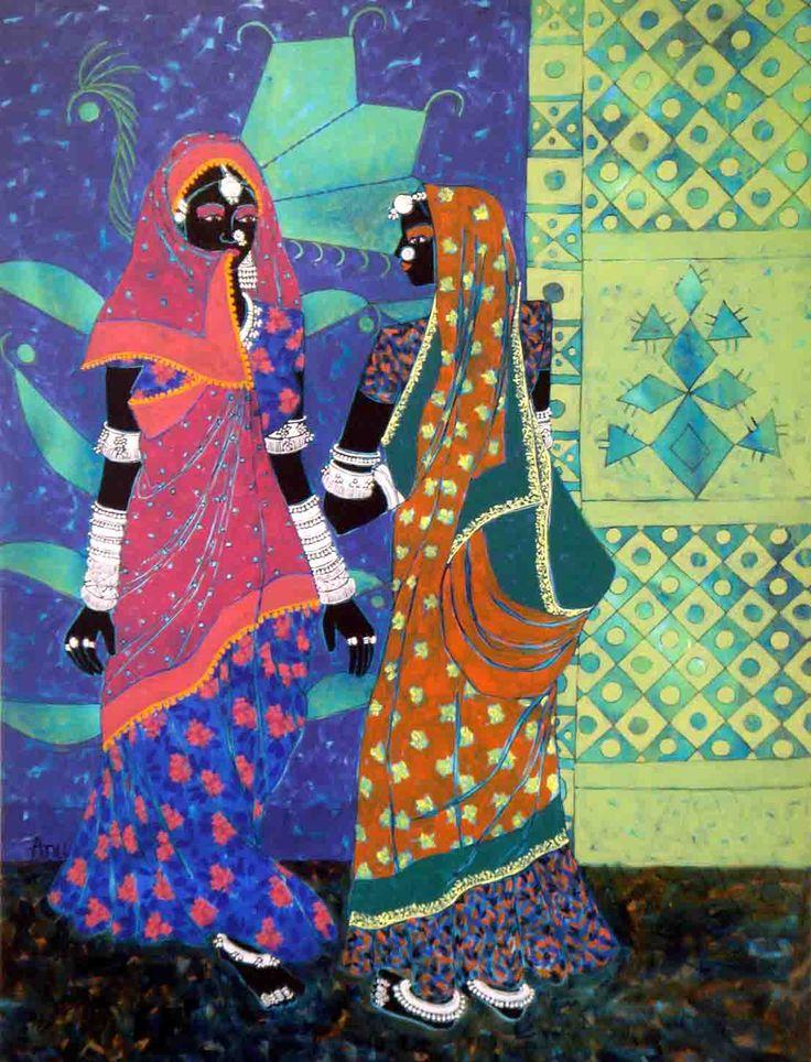 Acrylic on Canvas by Anuradha Thakur