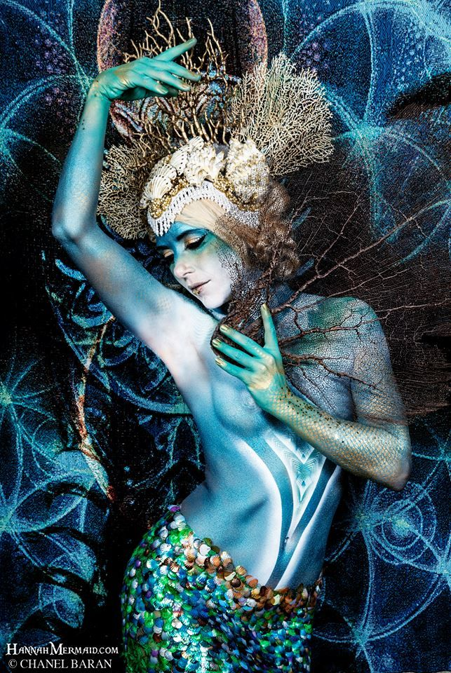 Photography: The Visionary Photographic Art of Chanel Baran Model: Hannah Fraser Body Paint: Kelsea Rae Headpiece: Miss G Designs (Made with faux coral and shells.) Photo Asst: Christie Hargrave A...