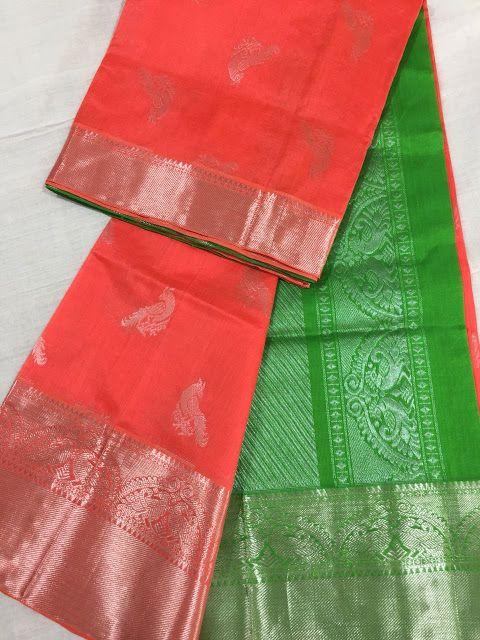 552c8560cb Kuppadam Pattu Sarees with Kanjeevaram Border | Elegant Fashion Wear ...