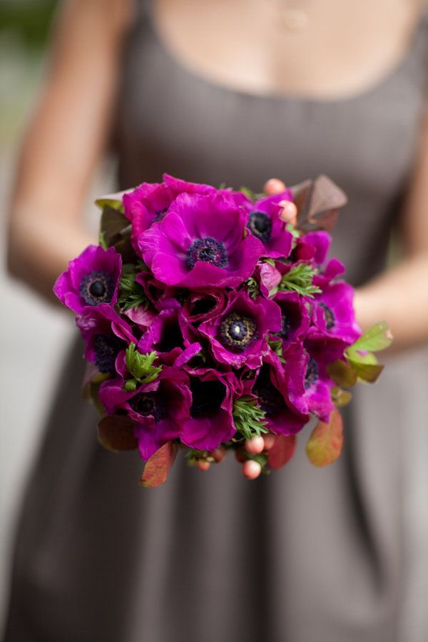 bold bouquet of anemones