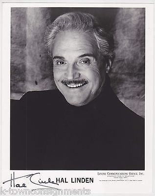 HAL LINDEN BARNEY MILLER TV & MOVIE ACTOR VINTAGE AUTOGRAPH SIGNED PROMO PHOTO