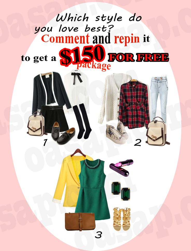 Oasap New Event---- From now to Oct.7th 1. Follow @OASAP on pinterest. 2.Comment about which style (Pop style, punk style, Lolita, Retro, etc.) you like and repin it. 3.At least 70 repins,one can get the reward. REWARD: A package at least $150 (coat, jacket,dress,skirt,etc. Random selection)