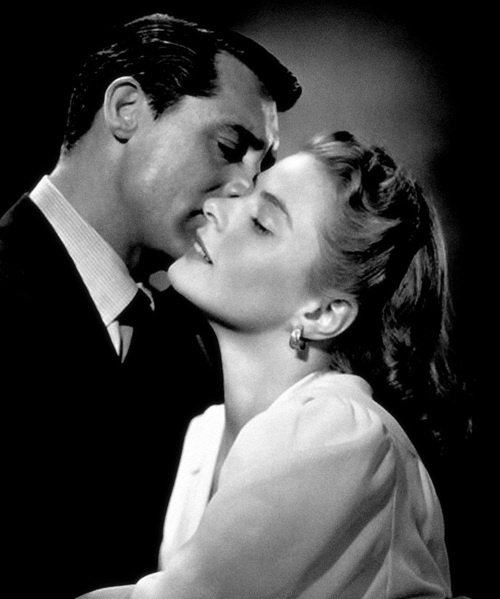 """A kiss is a lovely trick designed by nature to stop speech when words become superfluous.""~Ingrid Bergman with Cary Grant"