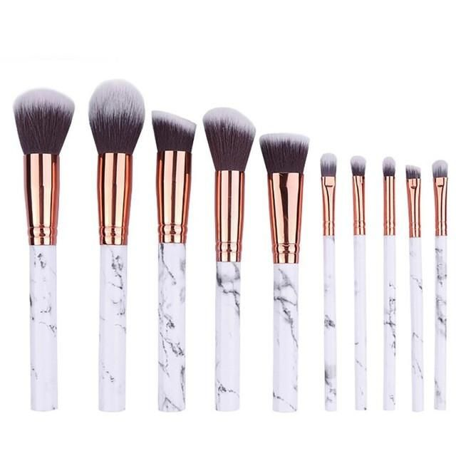 10pcs Set Marble Multifunctional Makeup Brush Makeup Brush Set It Cosmetics Brushes Travel Makeup Brushes