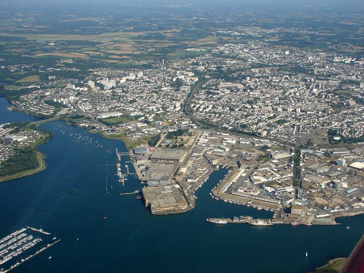 Photo aérienne de : Lorient - Morbihan (56)