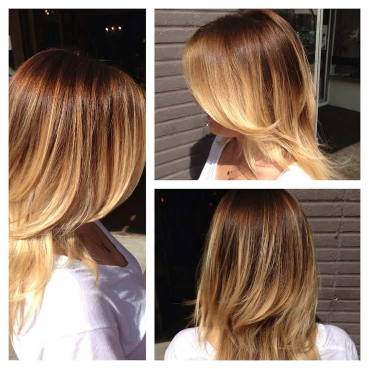 light brown to blonde balayage ombre before and after | ... . The lab a salon. Andrea miller LeFevre hair. Ombre. Natural blonde