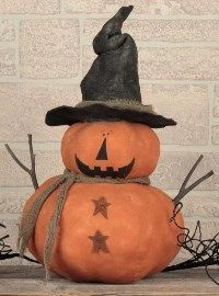 Large Witch Jack O Lantern