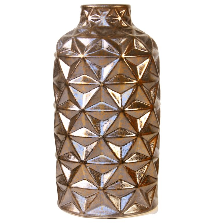 Facet Gold Vase - Matt Blatt