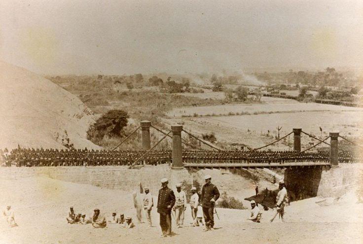 Regmiento Atacama a la salida de Lurin, Enero de 1881. Eduardo Spencer