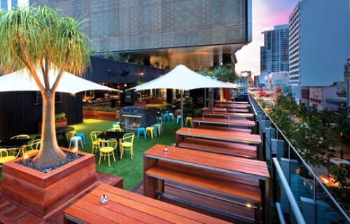 The Aviary - small roof top bar Perth
