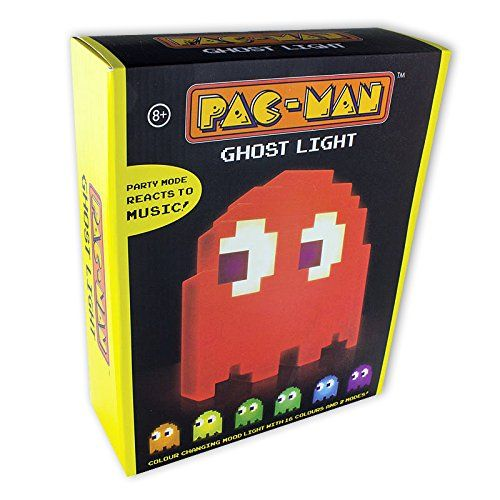A Colour Changing Pacman Ghost Light. *Pacman Ghost Light - $27.50* http://glowingwithme.com/colour-changing-pacman-ghost-light #Pacman #Ghost #Table #Desk #Light #Lamp