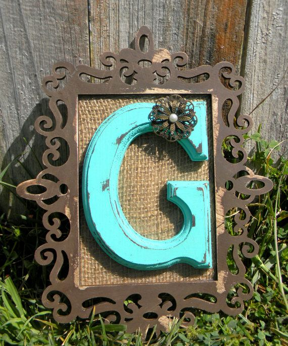 Monogram Wall Initial by laceNboots on Etsy, $24.99