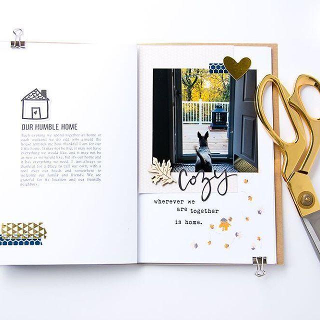 Traveler's Notebook gratitude journal layout