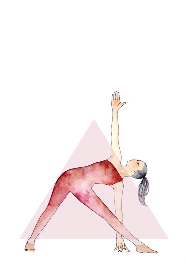 Triangle Pose #yoga #illustration