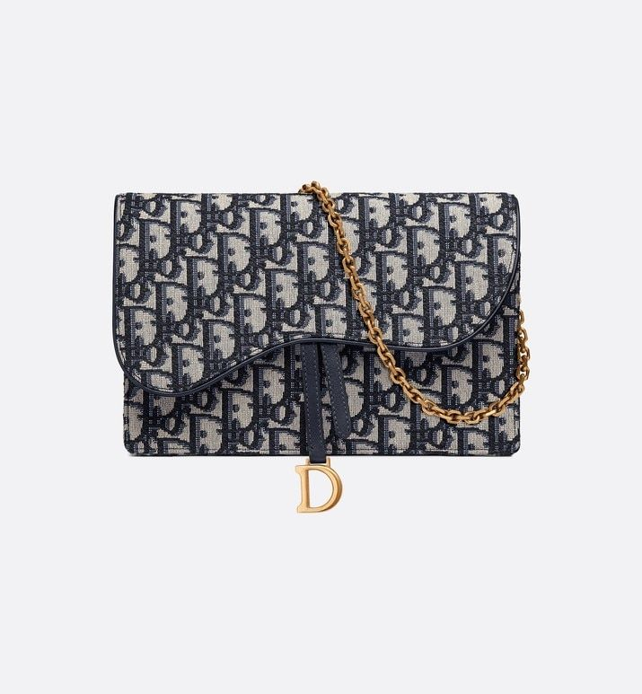 Saddle Pouch Blue Dior Oblique Jacquard Bags Woman Dior Dior Clutch Bag Women Fashion Bags Women