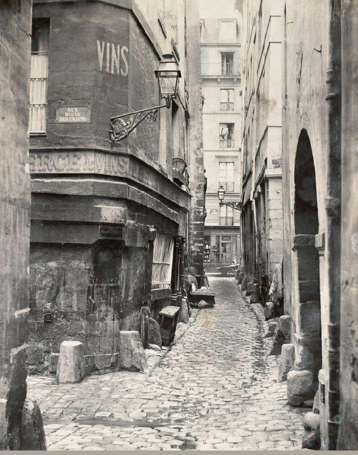 Rue de Glatigny - Paris 4ème va disparaître en mai juillet 1866 pour la construction du nouvel Hôtel-Dieu.