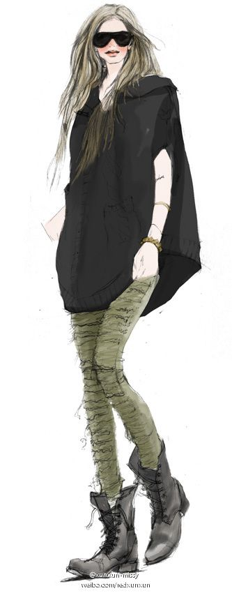 【 #fashion #illustration 】
