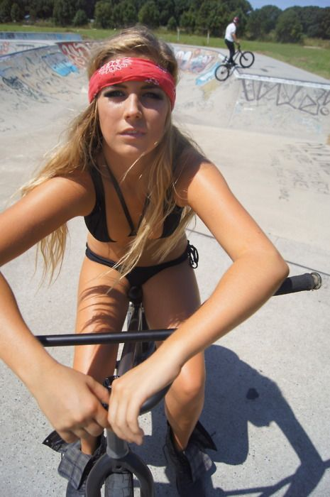 Why is she on MY Bikes?