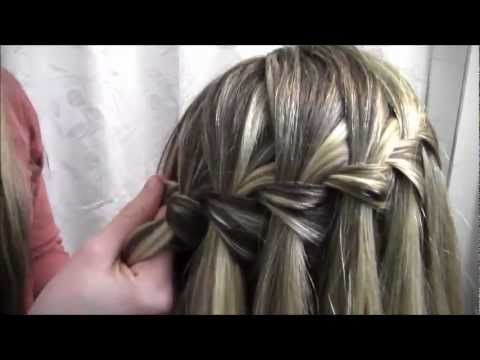 The Waterfall Braid- You guys have to watch this video. It's honestly the best tutorial for this braid that I've seen. She goes step by step and doesn't speed the video up and she keeps talking.