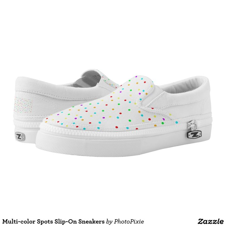 Multi-color Spots Slip-On Sneakers
