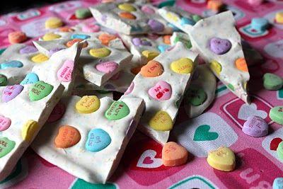 Conversation Heart Bark: Sweetheart Bark, Sweetheart Valentines, Sweethearts Bark, Valsocal, Holiday Valentine S Ideas, Valentines Day, Bark Valentinesday, Holidays Valentines, Valentines Bark