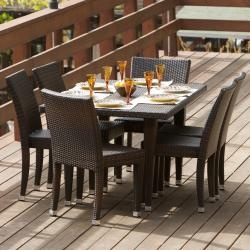 @Overstock - This all-weather wicker outdoor dining set features a beautiful brown color and weather resistant finish. The wicker construction on this outdoor furniture makes it both lightweight and durable.http://www.overstock.com/Home-Garden/All-Weather-Wicker-7-Piece-Outdoor-Dining-Set/5242280/product.html?CID=214117 $1,001.74