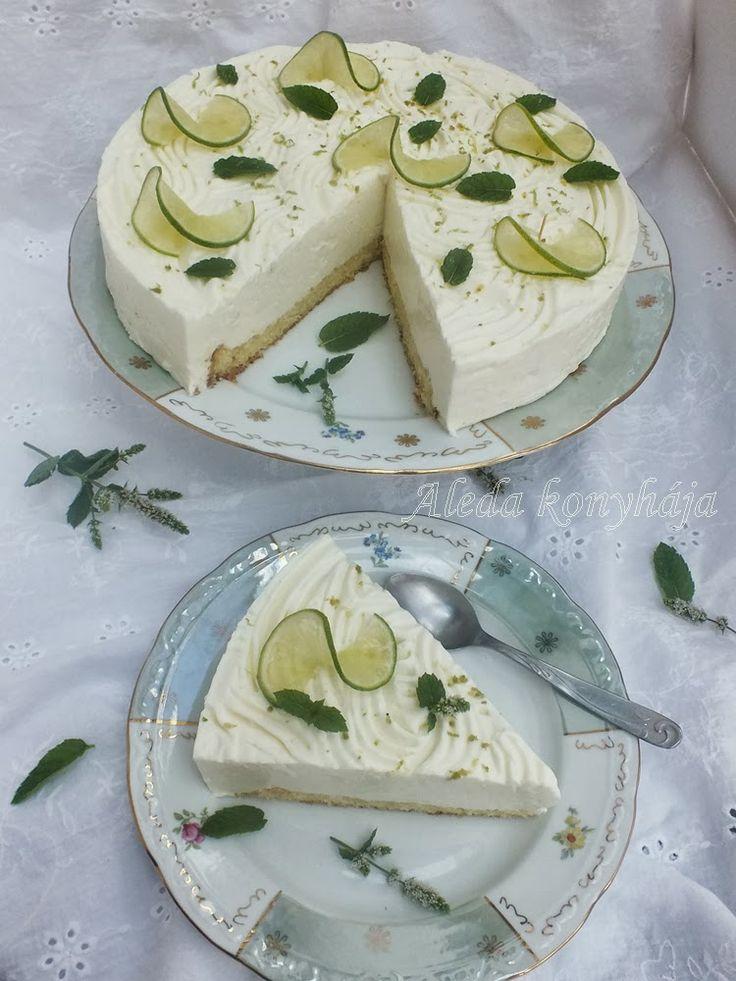 zöld citromos torta cukor és liszt nélkül