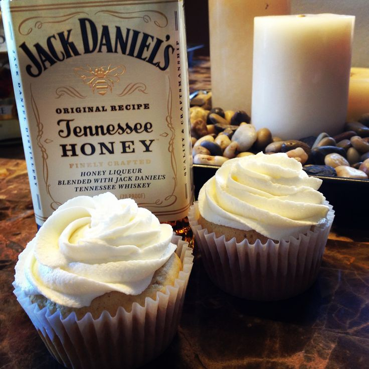 Honey Jack Daniels Cupcakes! OMG! My favorite whiskey i must try these like now lol...