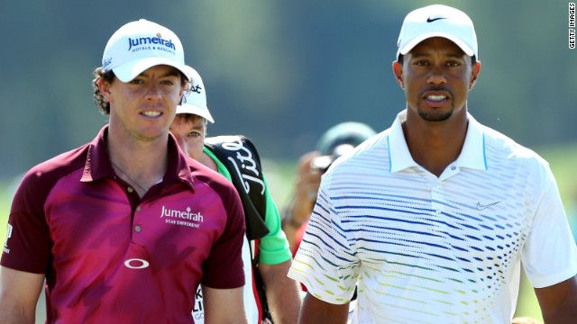 October 18, 2012    World No. 1 Rory McIlroy (left) is being tipped to assume Tiger Woods' mantel as golf's dominant force.