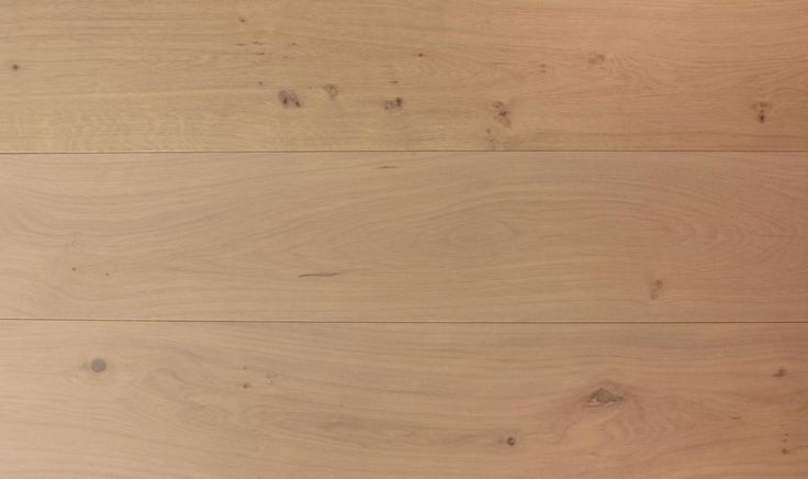 The Istoria Bespoke Monroe is a very subtle pale white colour. It shows off the beauty of the natural wood and lightly takes out the standard yellow oak colour. The wood floor is engineered, meaning that it can be floated, nailed or glued to the subfloor. It is also suitable for underfloor heating.