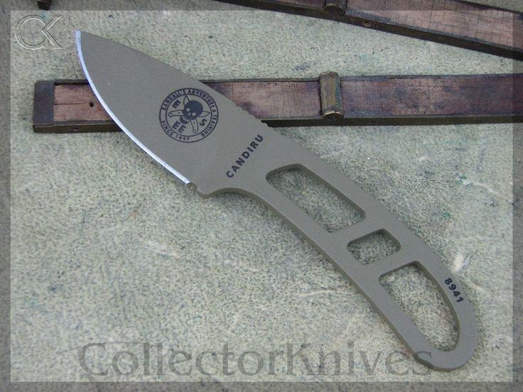 CollectorKnives - ESEE Candiru Neck Knife, Dark Earth Handles, 1095 steel, $45.38 (http://www.collectorknives.net/esee-candiru-neck-knife-dark-earth-handles-1095-steel/)
