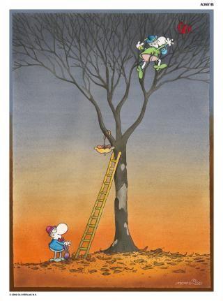 Heart in the Tree - Mordillo Collection - Mordillo