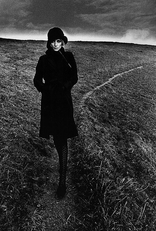Princess Diana by Jeanloup Sieff  The haunting isolation of the landscape reflects the isolation she must have felt...From Picture Book One 2/26/13