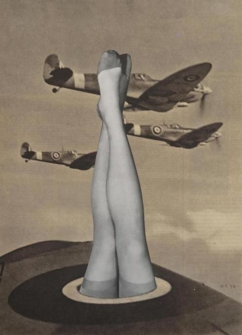 Untitled collage by Karel Teige, 1947  stockings