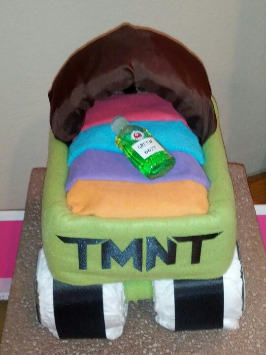 Teenage Mutant Ninja Turtles * TMNT * Diaper Cake Carriage   Made For A  Friend By · Turtle Baby ShowersBaby ...