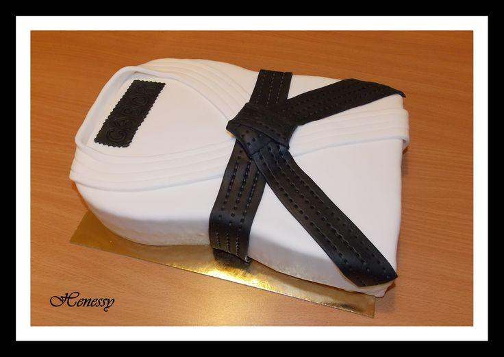 Karate ruha torta - Karate cake